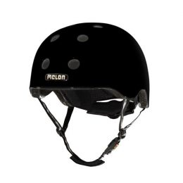CASCO MELON NEGRO BRILLANTE MD-LG 52-58cms