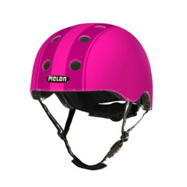 CASCO MELON DECENT DOBLE ROSADO FRANJAS ROSADAS MD-LG 52-58cms