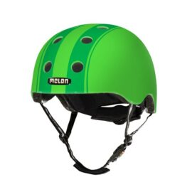 CASCO MELON DECENT DOBLE VERDE FRANJAS VERDES MD-LG 52-58cms