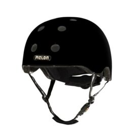 CASCO MELON NEGRO BRILLANTE XL-XXL 58-63cms