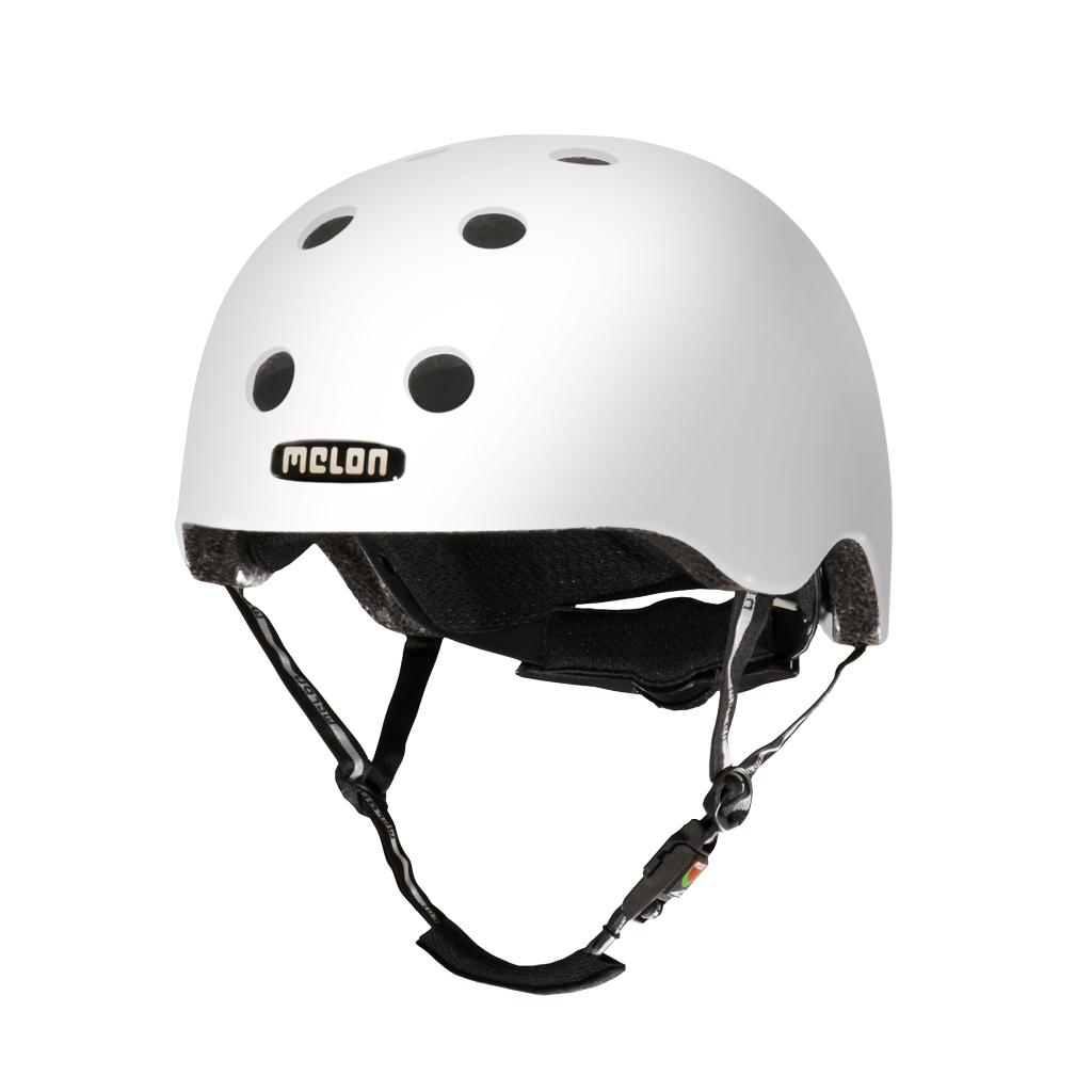 CASCO MELON BLANCO BRILLANTE MD-LG 52-58cms