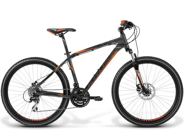 BICICLETA KROSS HEXAGON X4 SM GRAFITO/NARANJO