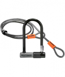 CANDADO U-LOCK KRYPTONITE SERIES 2 MINI-7 C/CABLE,NIVEL 6, GRIS