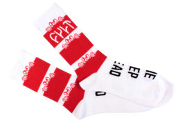 CALCETINES CULT KILLAROY STACK ROJO/BLANCO