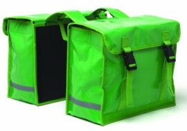 BOLSO ALFORJA NEWLOOXS Double pannierbag tarpaulin IMPERMEABLE VERDE TAMA O 32X31,5X13 CAPACIDAD 26 LITROS