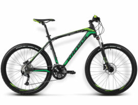 BICICLETA KROSS LEVEL A3 MD NEGRO/VERDE MATTE