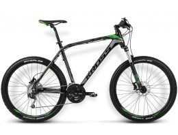 BICICLETA KROSS LEVEL A4 MD NEGRO/VERDE/GRAFITO MATTE