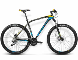 BICICLETA KROSS LEVEL B2 SM NEGRO/AZUL/AMARILLO