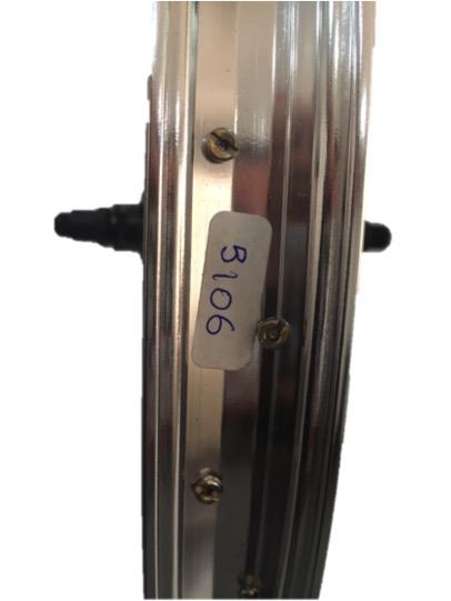 RUEDA TRAS.ORIGINAL WTP 2015 ARCADE 20 MAZA SILVER SELLADO ARO SILVER 36H 9T 14mm