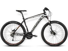 BICICLETA KROSS LEVEL R4 LG NEGRO/BLANCO/NARANJO BRILLANTE