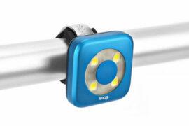 LUZ DELANTERA KNOG BLINDER USB 4 LEDS CIRCLE AZUL