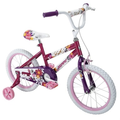 BICICLETA INFANTIL ARO 16 HUFFY SO SWEET RASADO/BLANCO