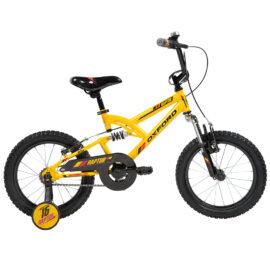 BICICLETA INFANTIL ARO:16 OXFORD RAPTOR DOBLE AMARILLO
