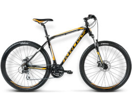 BICICLETA KROSS HEXAGON R4 MD NEGRO/NARANJO/BLANCO BRILLANTE