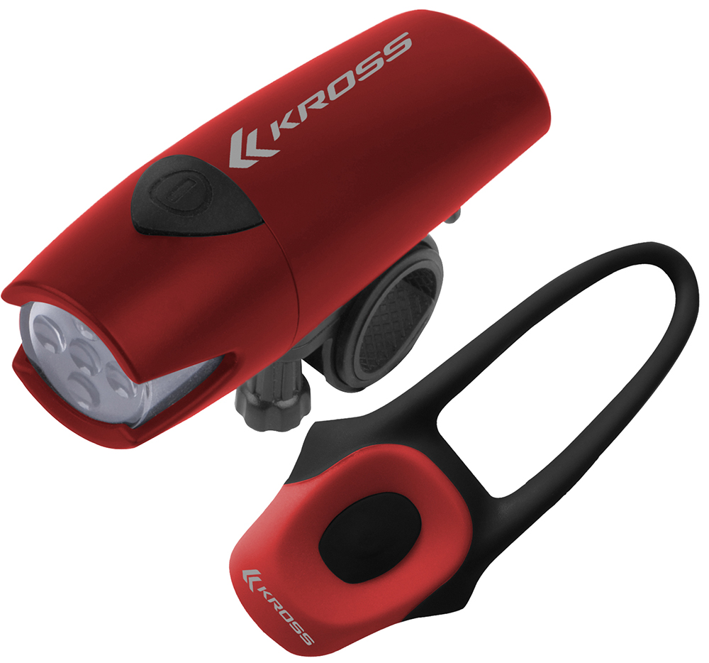 LUCES KROSS SCOPE SET II ROJO