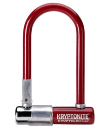 CANDADO U-LOCK KRYPTONITE SERIES 2 MINI-7 GRIS ROJO MERLOT
