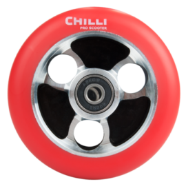 RUEDA CHILLI PARABOL 100mm ROJO