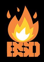 STICKER BSD FLAMED