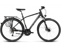 BICICLETA KROSS TRANS GLOBAL MD NEGRO/ PLATINUIM MATTE