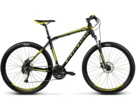 BICICLETA KROSS HEXAGON R5 LG NEGRO/AMARILLO/LIME MATTE